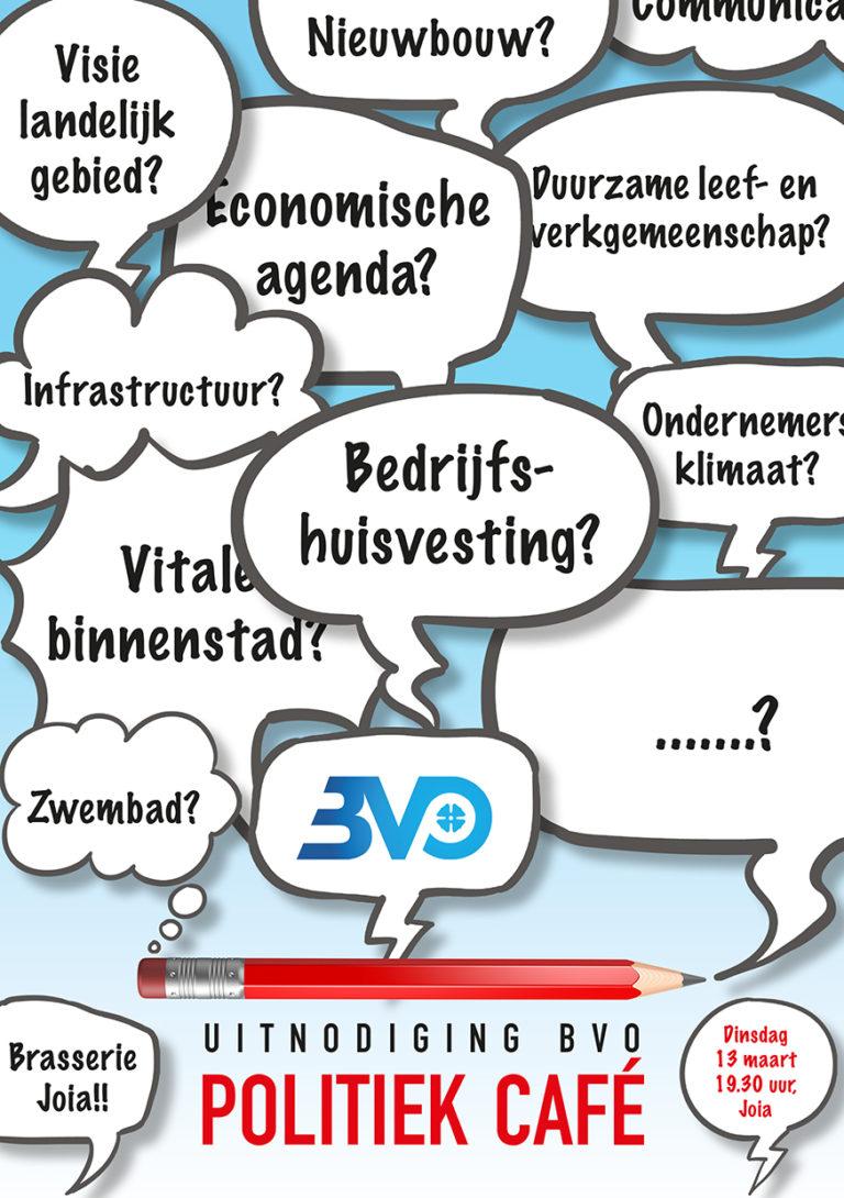 Uitnodiging BVO politiek cafe
